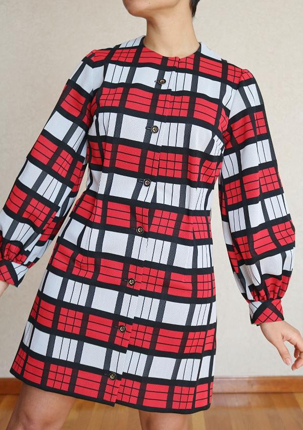 Button Down Maxi Dress Refashion: A-line Dress Closeup