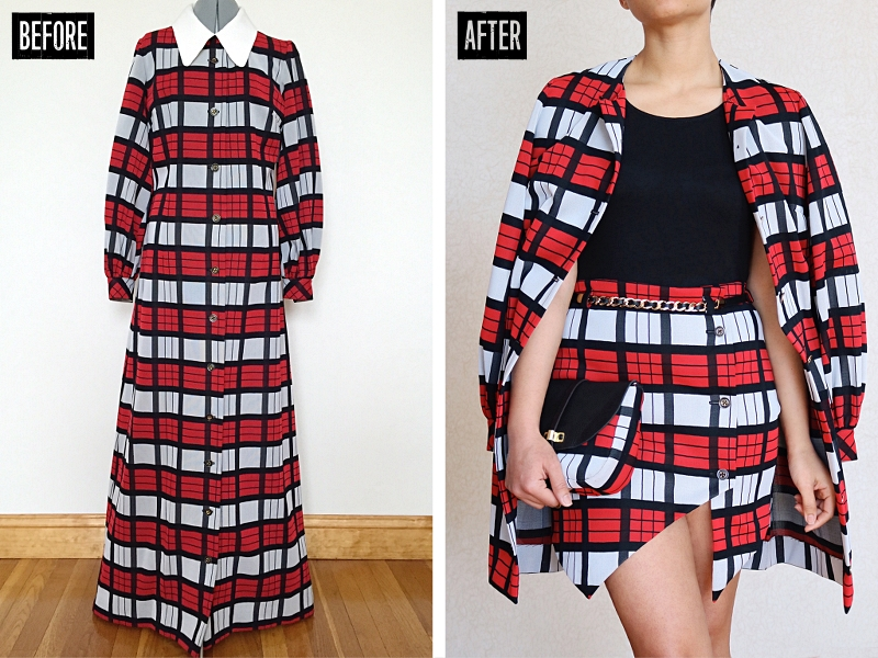 Button Down Maxi Dress Refashion: Before & After