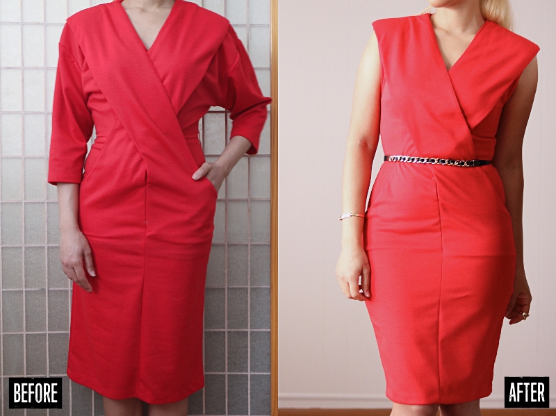 Criss-cross Dress Refashion: Before & After