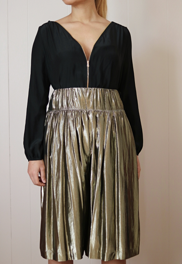 Metallic Skirt Refashion: Close-up