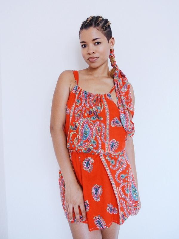 Paisley Maxi Dress Refashion: Halter Top Set