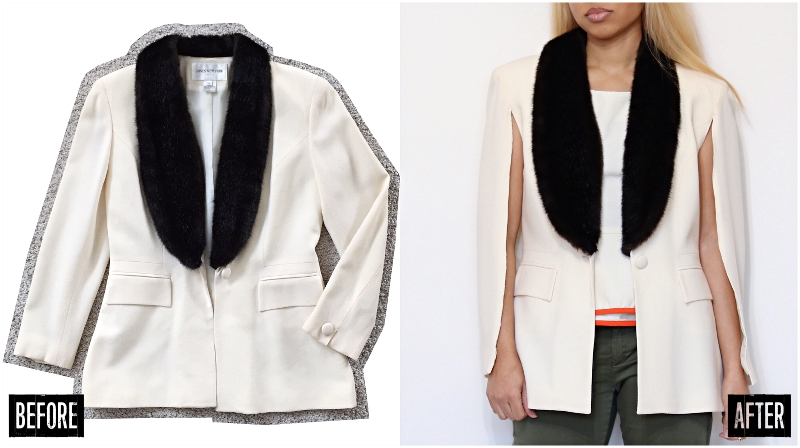 blazer jacket to cape