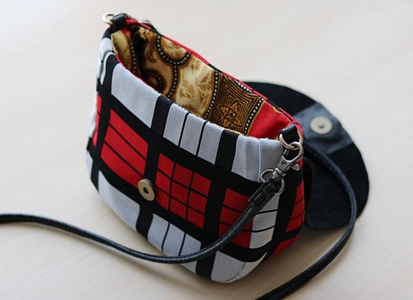 DIY Plaid Saddle Bag: Interior