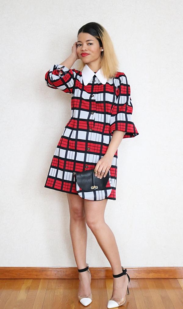 Plaid Dress Refashion: Handbag & Detachable Collar