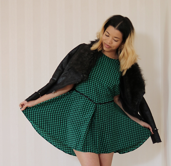 Checkered High-Low Dress Refashion: High-Low Dress