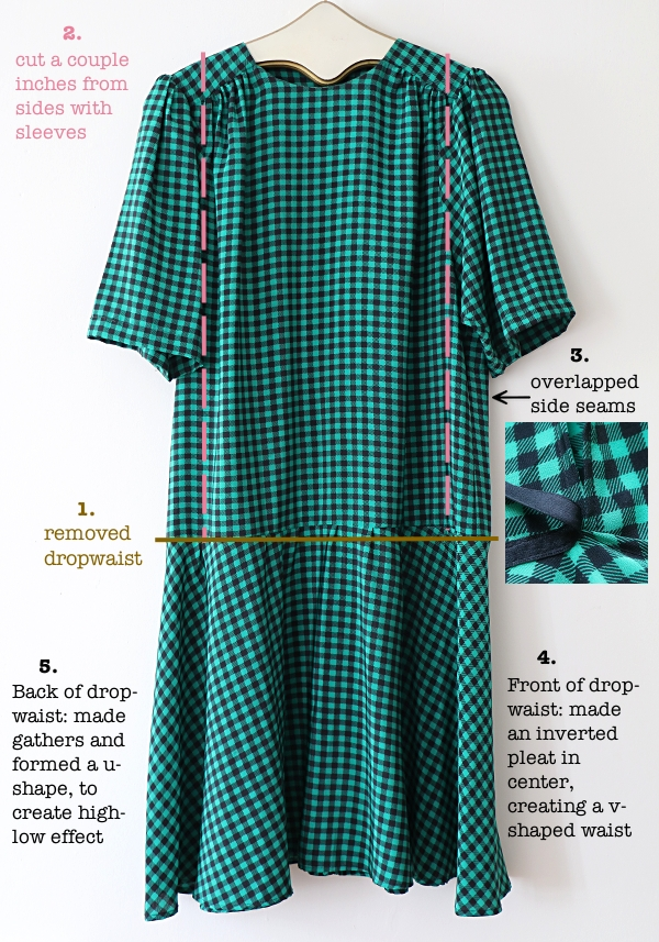 Checkered High-Low Dress Refashion: Tutorial