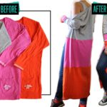 Colorblock Maxi Cardigan Sweater: Before & After