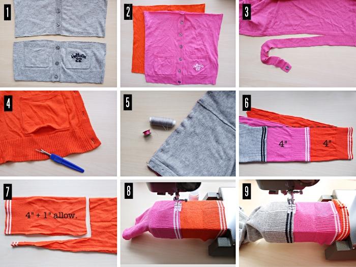 Colorblock Maxi Cardigan Sweater: Tutorial