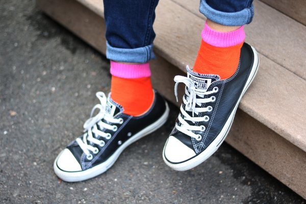 DIY Colorblock Socks