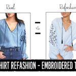 Men's Shirt Refashion: Embroidered Top Dupe