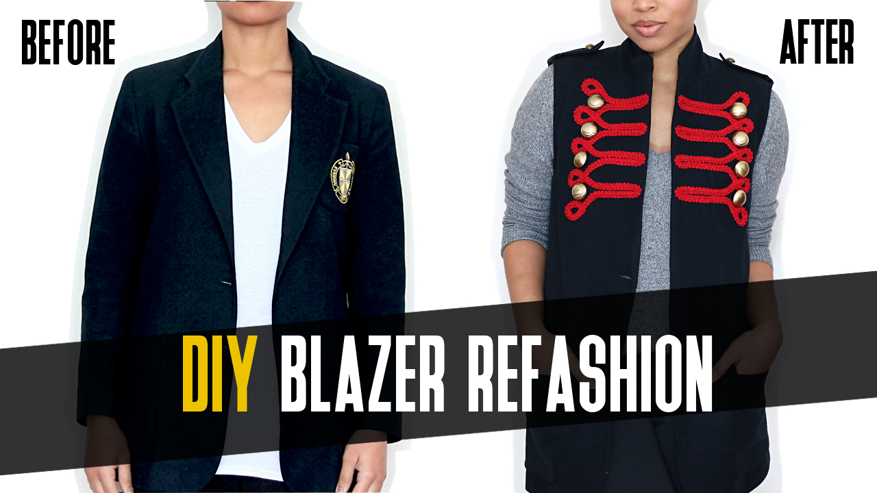 DIY Blazer Vest Refashion: Tutorial
