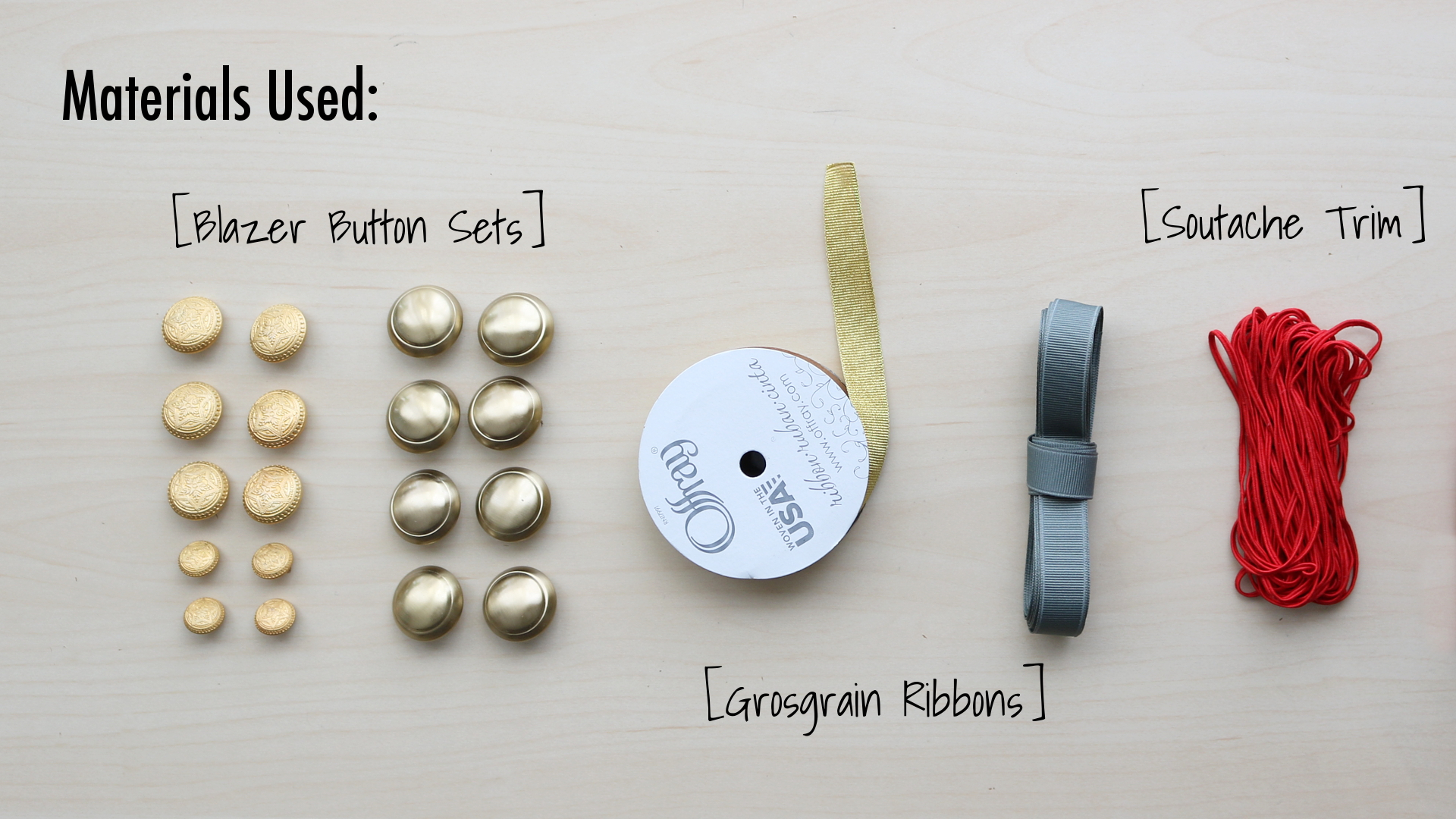 DIY Blazer Refashion: Materials Used
