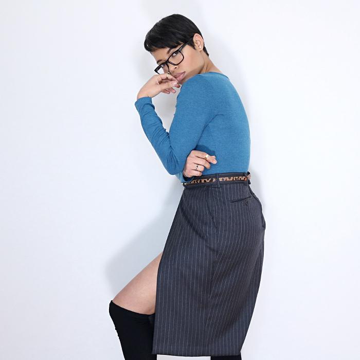 Men's Dress Pants Refashion: Side Slit