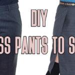 Men's Dress Pants Refashion: Double Slit Skirt Tutorial