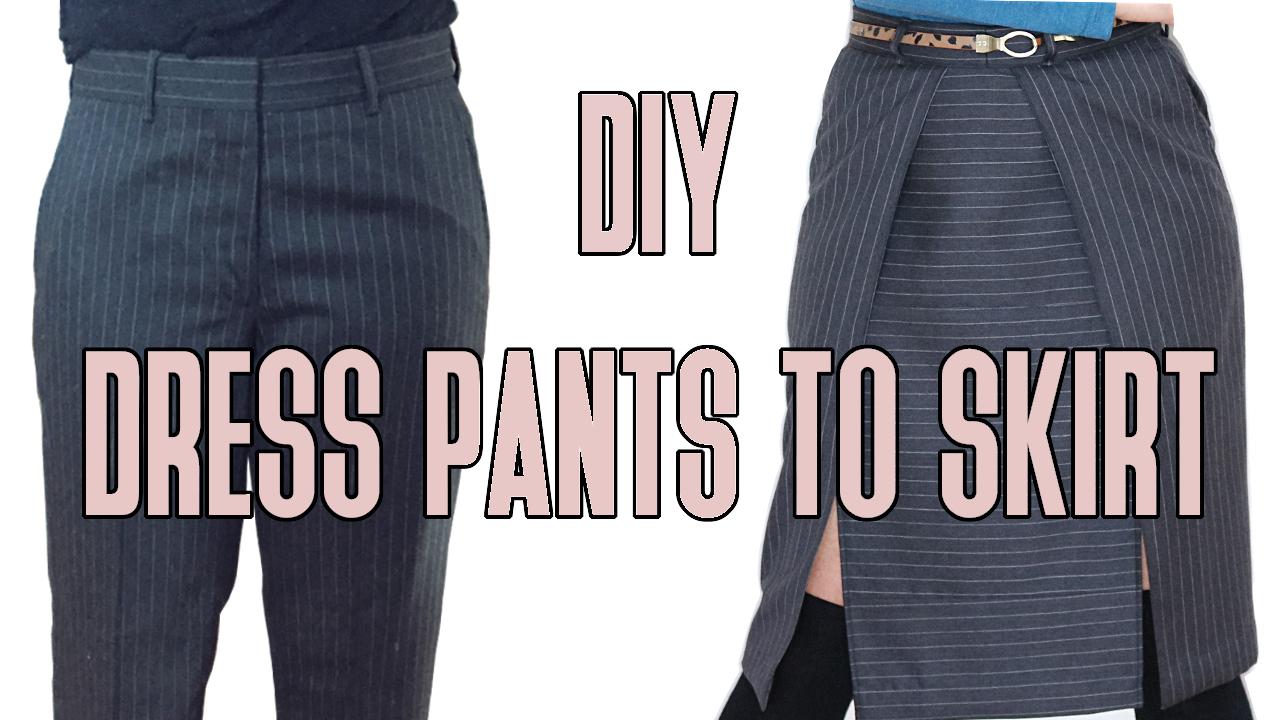 DIY SKIRT TO PANTS
