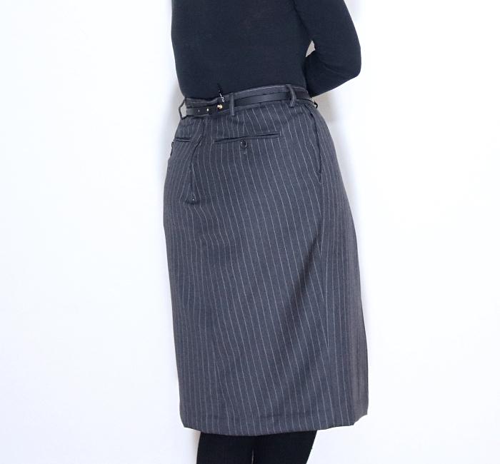 Men's Dress Pants Refashion: Back Closeup