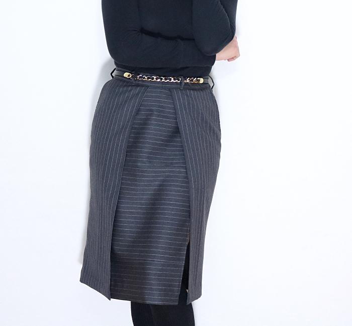 Men's Dress Pants Refashion: Front Closeup