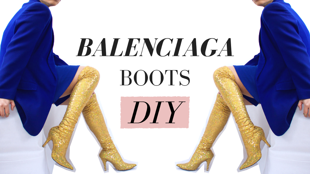 get online in stock best prices VIDEO] DIY Balenciaga-Inspired Boots | Paper Michey